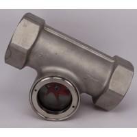 304不锈钢叶轮视镜 螺纹视镜 丝括水流指示器 丝口叶轮视镜