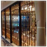 酒店青古铜不锈钢屏风定做现代简约装饰隔断