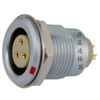 沿溪连接器3芯母座航空接插件仪器信号传输采集器工业设备连接口