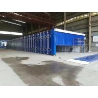 厂家直销伸缩移动喷漆房 山东新迈节能环保设备