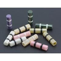 供应服装辅料卫衣帽绳陶瓷绳扣 吊钟圆柱设计多色选择 可定制