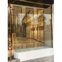家具后现代简约屏风不锈钢金色镂空客厅金属装饰隔断玄关港式
