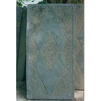 菱形面青石板、机打面青石板、雕花面青石板、刻画面青石板