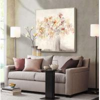 赞旭手绘抽象花卉简约现代装饰画背景墙挂画油画