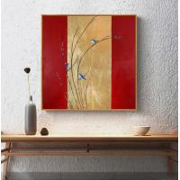 赞旭手绘金箔抽象简约现代轻奢油画装饰画