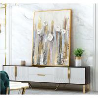 赞旭现代简约北欧抽象花卉欧式美式大幅手绘油画装饰画