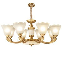 欧美式全铜灯 现代铜吊灯 简约轻奢铜灯